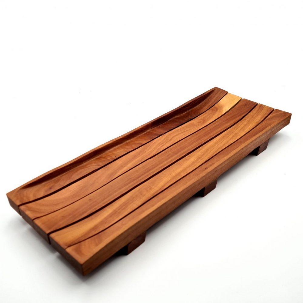 drewniana mydelniczka mahoniowa